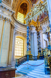 Interiors and architectural details of the Hotel des Invalides, Paris, France