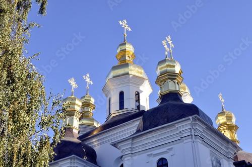 Foto op Plexiglas Kiev Uspensky Cathedral in Kiev Pechersk Lavra,
