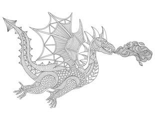Dragon graphic vector illustration