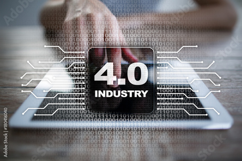 Industry 4.0. IOT. Internet of things. Smart manufacturing concept. Industrial 4.0 process infrastructure. background.