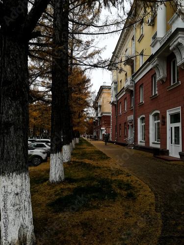 Fotobehang Smalle straatjes russia|siberia