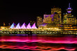 Night lights on Vancouver, British Columbia, BC, Canada
