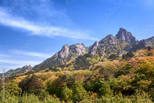 Beautiful mountain landscape in the national park of Soraksan, South Korea
