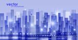 Night city background - 180436629
