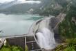 富山県 立山黒部アルペンルート 黒部ダム Japan Toyama Tateyama Kurobe Alpine Route Kurobe Dam