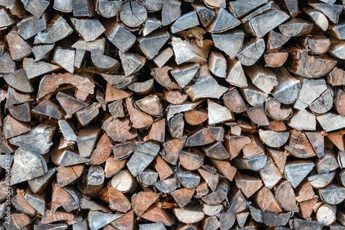 Foto op Canvas Brandhout textuur Brennholz Hintergrund