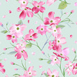 Blooming Spring Flowers Pattern Background. Seamless Fashion Print in vector - 180445256
