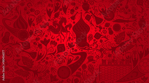 Russian red wallpaper, vector illustration - 180456077