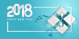 Elegant New Years greeting card. Vector illustration concept for greeting cards, web banner, flayer brochure, party invitation card. - 180458081
