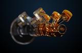 3d illustration of engine. - 180464613