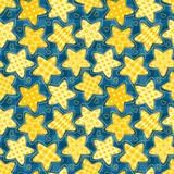 Children seamless pattern with stars