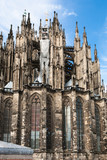 soapbubbles and wall of Cologne Cathedral - 180479061