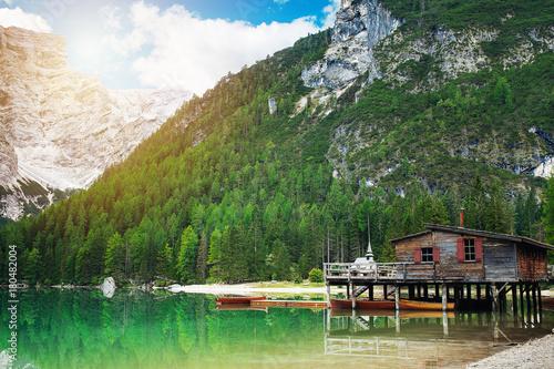 Foto op Plexiglas Bergen Pragser Wildsee Lago di braies