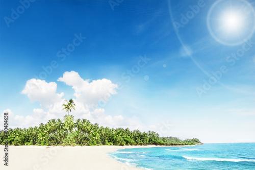 Fotobehang Tropical strand sea