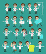 Comic Specialist Doctors Poses and Concepts Vector Set - 180490200