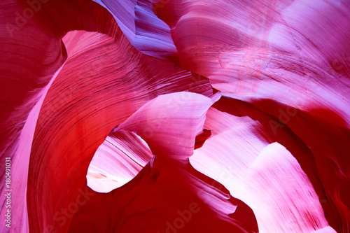 Foto op Canvas Rood paars Antelope canyon