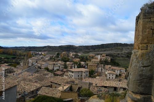 Aluminium Blauwe hemel Pueblos de Aragon Spain Uncastillo