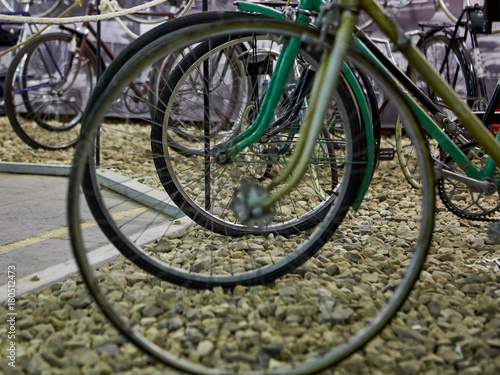 Fotobehang Fiets old bikes