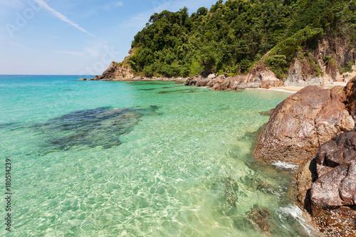 Fotobehang Tropical strand beautiful beach and tropical sea scenery in Thailand.