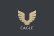 Eagle Bird Wings abstract Logo design vector. Luxury icon