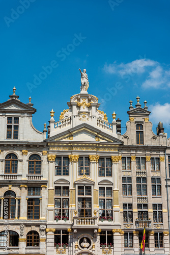 Foto op Canvas Brussel Guildhalls on the Grand Place of Brussels in Belgium.
