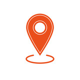 Map pin location icon - 180520678