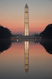Washington Monument at Dawn. Dawn image of the Washington Monument with scaffolding erected all around it while being repaired after an the 2013 earthquake.