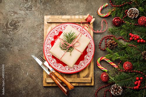 Christmas table setting - 180539498