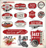 Jazz music badge collection