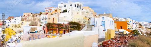 Papiers peints Photos panoramiques Panorama of the town of Oia, Santorini Island, Greece
