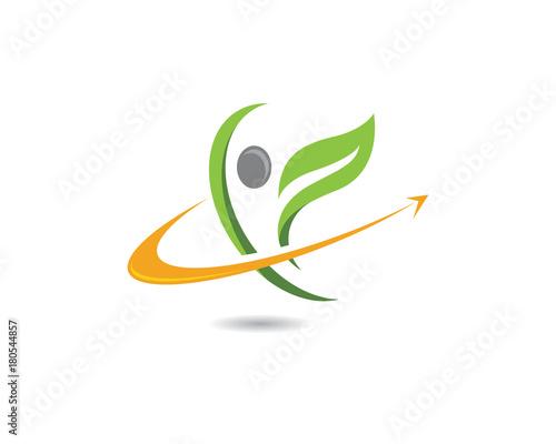 Human character logo sign - 180544857