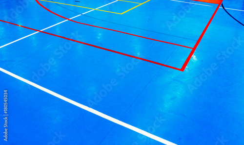 Fotobehang Basketbal markings basketball court