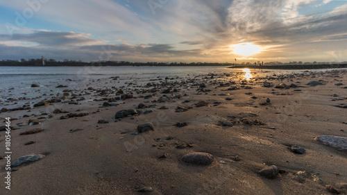 Aluminium Strand beautiful beach on the river