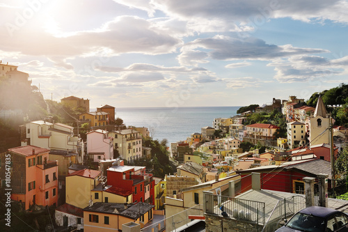 Foto op Aluminium Liguria Five lands, Liguria, Italy - view of Riomaggiore