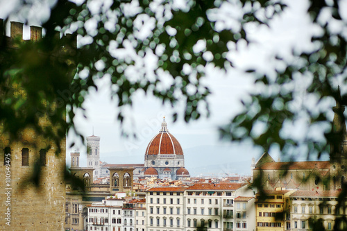 Papiers peints Florence Panoramic view of Florence and Cathedral dome, Tuscany, Italy,