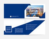 Corporate cover design and inner layout page template for annual report or catalog, magazine, flyer, booklet, brochure. Size A4 landscape EPS-10 sample image with Gradient Mesh. - 180555853