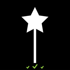 Magic wand it is white icon .