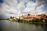 The Ptuj castle and bridge over the Drava river, Slovenia - 180558227
