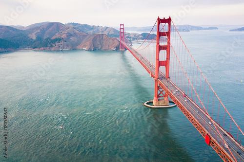 obraz PCV Golden Gate bridge aerial view