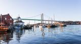 Klippan port in Gothenburg harbor in afternoon sunlight Sweden Gothenburg