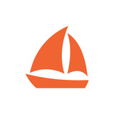 Sailboat icon simple - 180569495