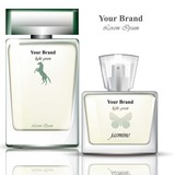 Men Perfume bottles realistic Vector. Product packaging for brands, advertise, commercials - 180569605