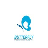 Butterfly cute icon