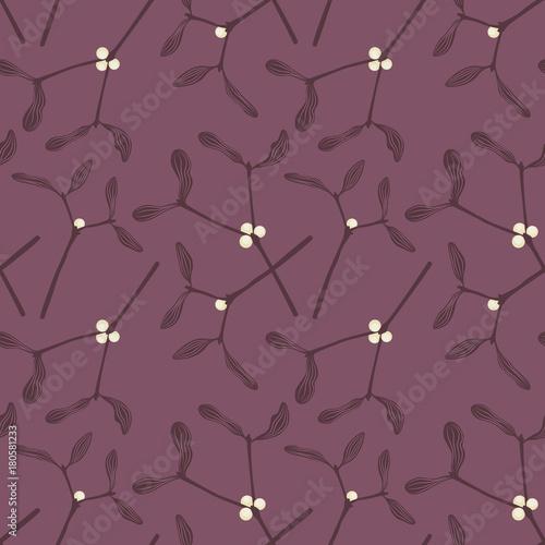 Materiał do szycia wzór z jemioły