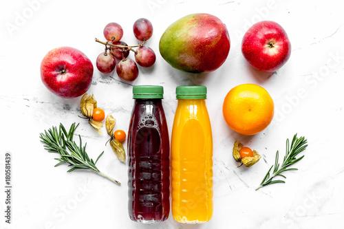 summer fresh drink in plastic bottle on white background top vie - 180581439