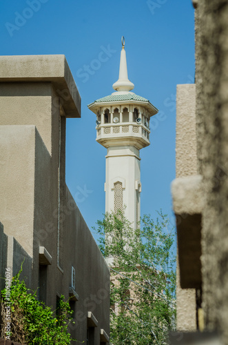 Staande foto Dubai Mosque in Dubai Bastakiya Old Distric