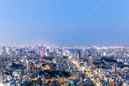 Fotobehang Tokio modern cityscape at twilight