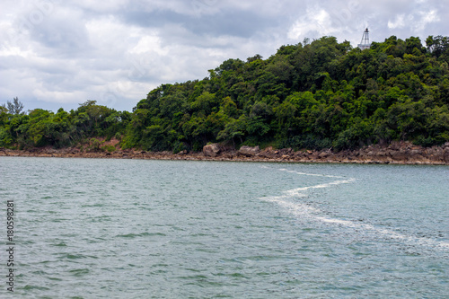Fotobehang Tropical strand Sea view background in Thailand
