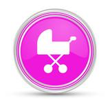 Pinker Button - Kinderwagen
