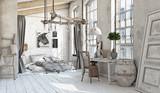 Scandinavian  Bedroom interior - 180600611